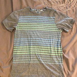 {3 for $10} Shaun White Gray Striped T-Shirt